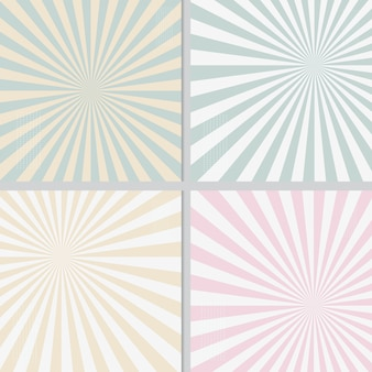 Achtergrond van de coördinaat polaire coördinaat van de pastelkleur retro zonneschijn