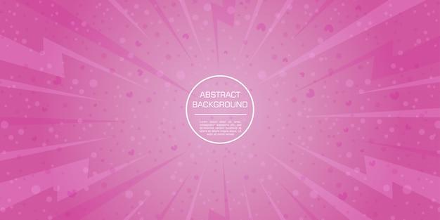 Achtergrond van de de suikerspin roze gadient dynamische vormen van de liefdevalentijnskaart