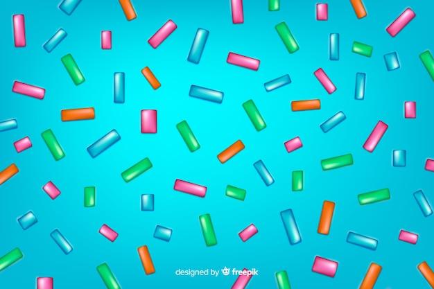 Achtergrond van de doughnut de blauwe smaakvolle glans