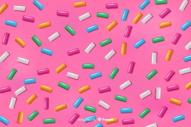 Achtergrond van de doughnut de roze smaakvolle glans
