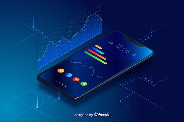 Achtergrond van de gradiënt de mobiele isometrische technologie