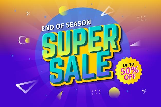 Achtergrond van de gradiënt retro super verkoop