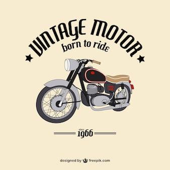 Achtergrond van de hand getekende vintage motorfiets