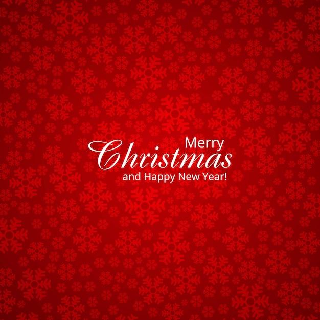 Achtergrond van de kerstmiskaart van de sneeuwvlok de decoratieve vrolijke