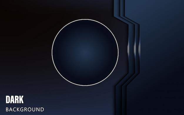 Achtergrond van de luxe de blauwe abstracte afmeting