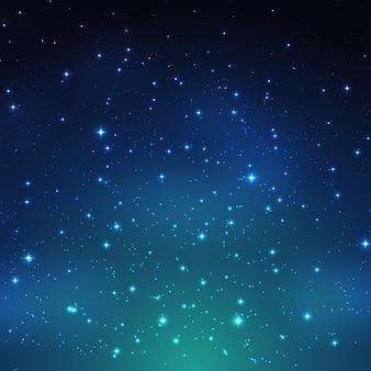 Achtergrond van de nacht de glanzende sterrige hemel.