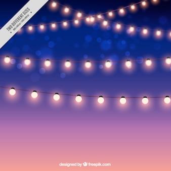 Achtergrond van de prachtige slingers van lichten