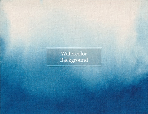 Achtergrond van de waterverf de abstracte blauwe nad witte textuur