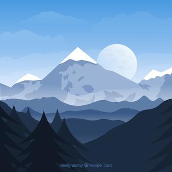 Achtergrond van de winterbos
