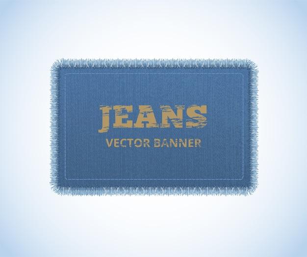 Achtergrond van denim textuur. jeans realistische banner.