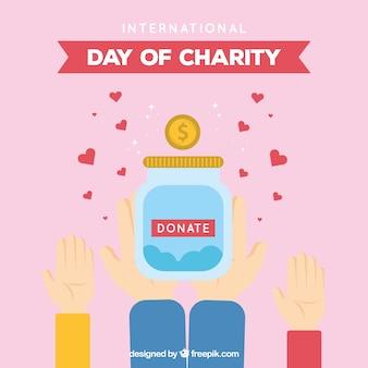 Achtergrond van donatiepot
