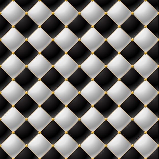 Achtergrond van elegant gewatteerd patroon vip zwart en wit