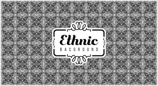 Achtergrond van etnische motieven zoals indiaas geweven of indonesisch geweven