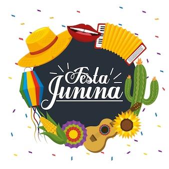 Achtergrond van festa junina-viering