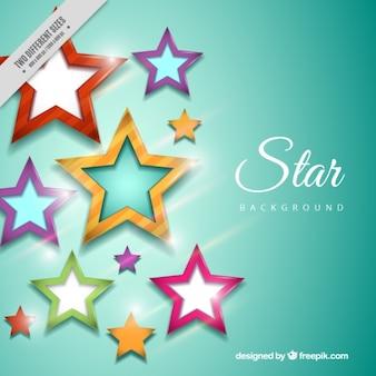 Achtergrond van gekleurde sterren