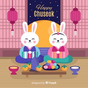 Achtergrond van gelukkige koreaanse chuseok