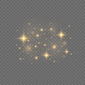 Achtergrond van gouden confetti en glitter textuur