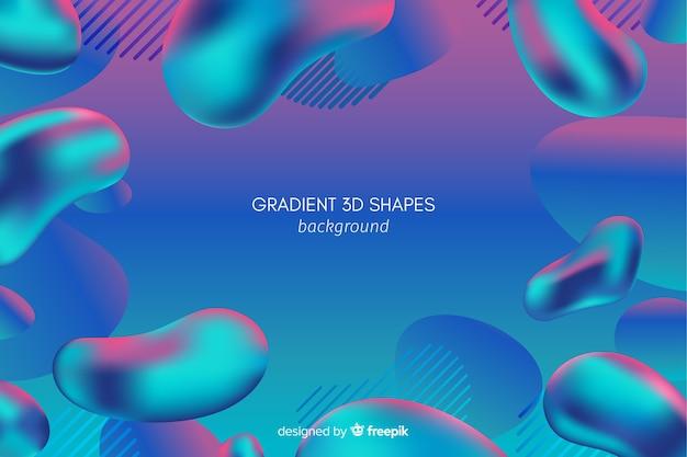 Achtergrond van gradiënt de vloeibare 3d vormen