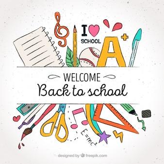 Achtergrond van harte welkom om de school