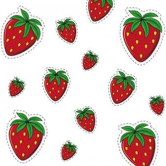Achtergrond van het aardbei de zoete fruit