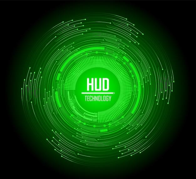 Achtergrond van het de technologieconcept van de cirkel de groene cyberkring toekomstige
