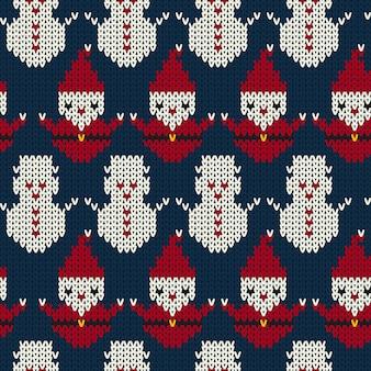 Achtergrond van het kerstmis de naadloze gebreide patroon