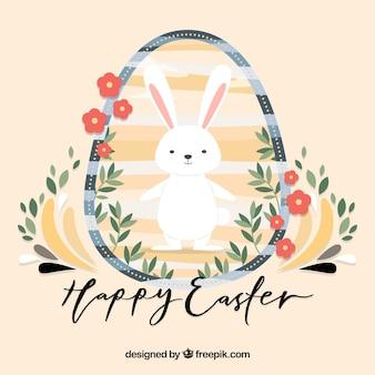 Achtergrond van het konijntje in een easter egg