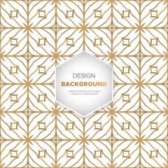 Achtergrond van het luxe mandalaontwerp in gouden kleurenvector