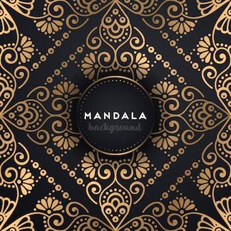 Achtergrond van het luxe mandalaontwerp