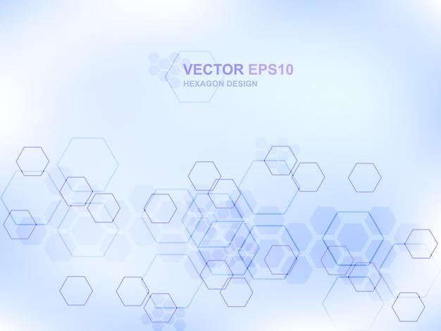 Achtergrond van het technologie hexagon medische concept