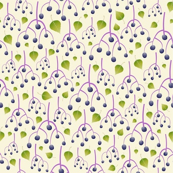 Achtergrond van het vlierbessen naadloze patroon