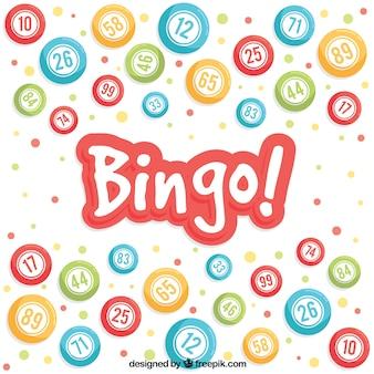 Achtergrond van kleurrijke bingo ballen