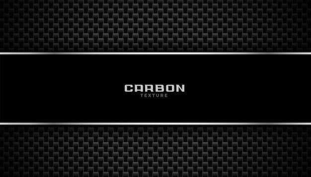 Achtergrond van koolstofvezel met metalen lijnen