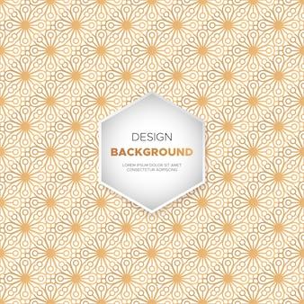 Achtergrond van luxe luxe mandala in gouden kleur