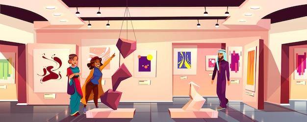 Achtergrond van moderne kunstmuseum