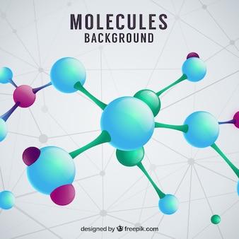 Achtergrond van moleculen in realistische stijl