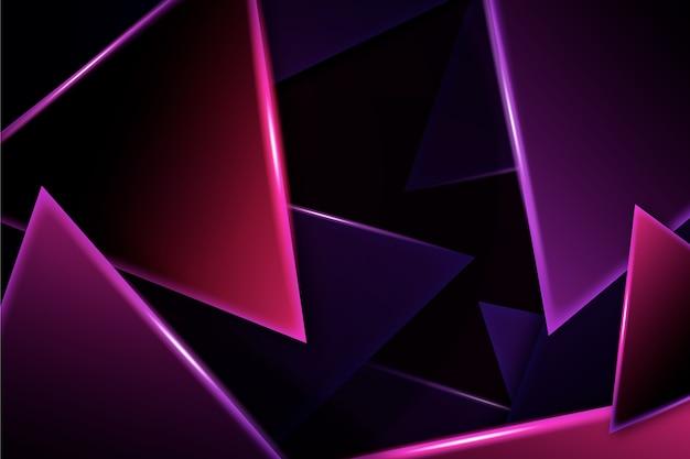 Achtergrond van neonlichten de geometrische vormen