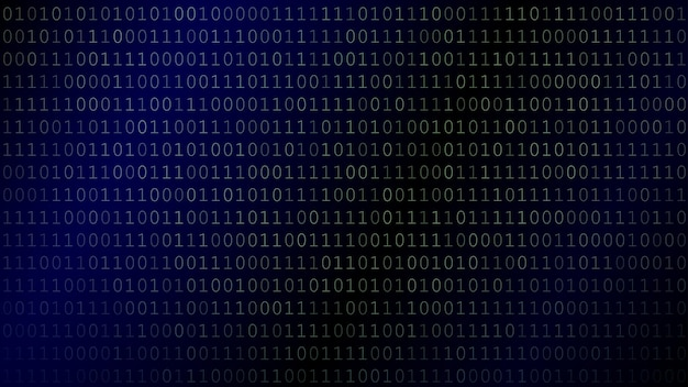 Achtergrond van nullen en enen in donkerblauwe kleuren