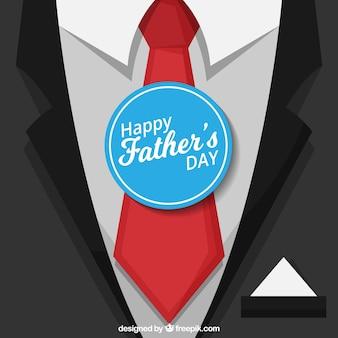 Achtergrond van pak en stropdas voor vaderdag