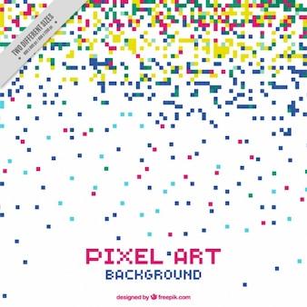 Achtergrond van pixelkleuren regen