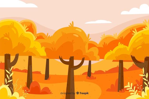Achtergrond van platte herfst landschap