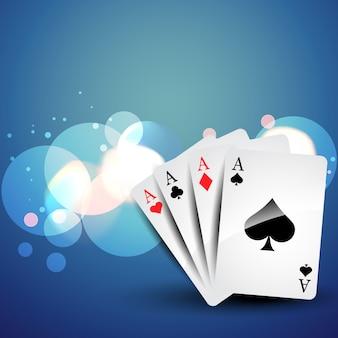 Achtergrond van playcard in bokeh-effecten