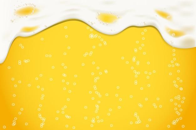 Achtergrond van realictisch bierschuim en bellen. oktoberfest bierfestival.