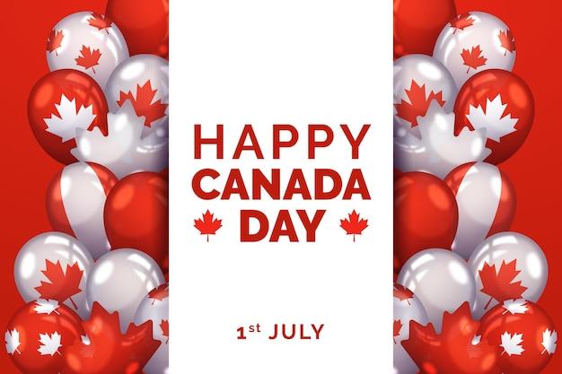 Achtergrond van realistische nationale canada dag