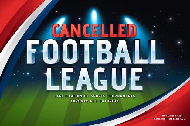 Achtergrond van sportevenement geannuleerd