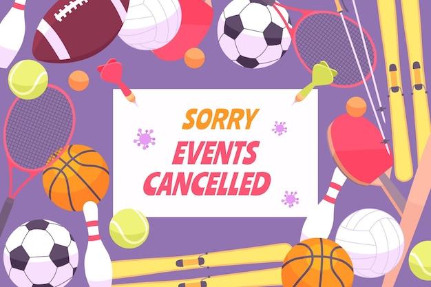 Achtergrond van sportevenementen geannuleerd