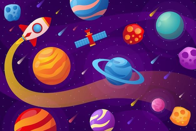 Achtergrond van sterrenstelsel met kleurovergang