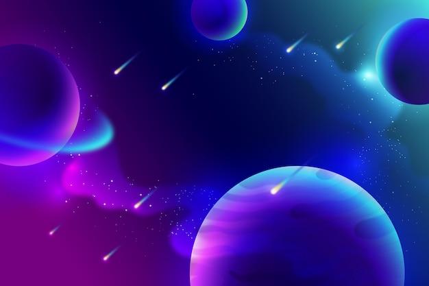 Achtergrond van sterrenstelsel met kleurovergang Gratis Vector