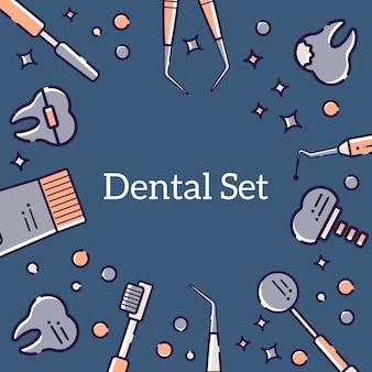 Achtergrond van tandarts en tanden