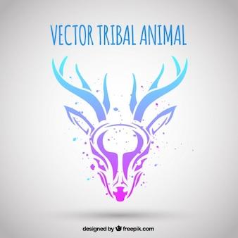 Achtergrond van tribale herten